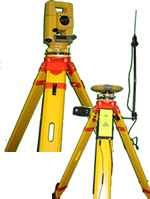 Equipment used at La Crosse Engineering, including: Global Positioning and a Total Station